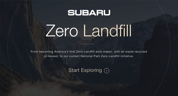 Subaru: Zero Landfill