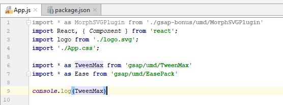 Failed to Minify - GSAP - GreenSock