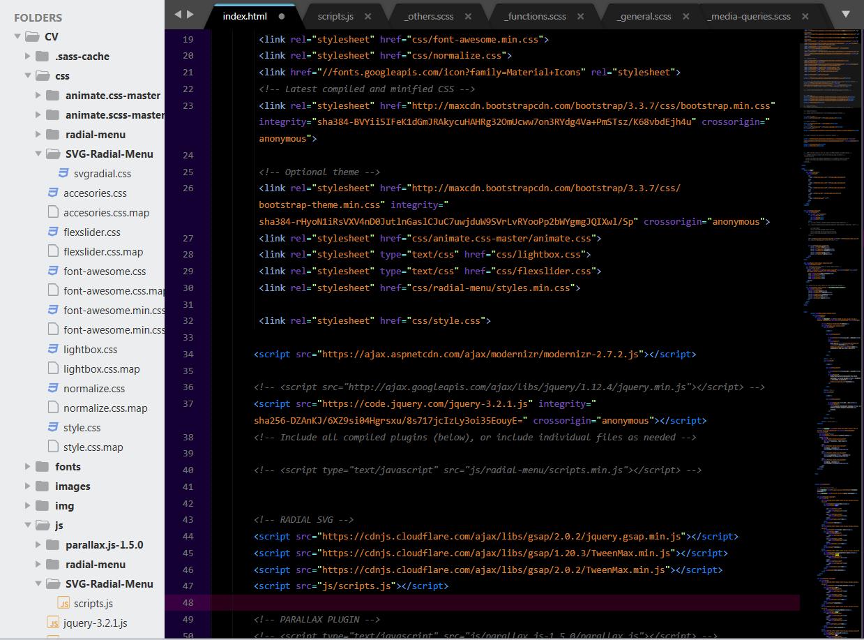 How to activate Javascript in plugin SVG-Radial-Menu - GSAP