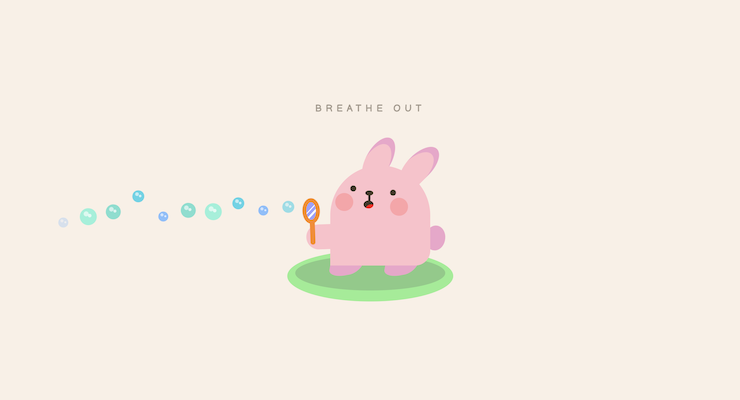Bunny Breathing Exercise