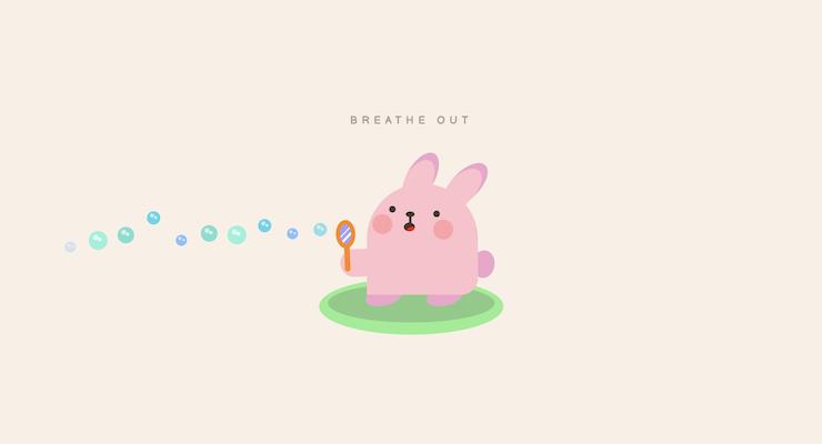 Bunny Breathing Exercise